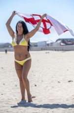 SIMONE REED in Bikini on the Beach in England 06/27/2018