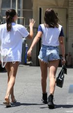 SOFIA RICHIE in Denim Cut-off Out in Beverly Hills 06/19/2018