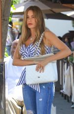 SOFIA VERGARA Out for Lunch at Il Pastaio in Beverly Hills 06/13/2018