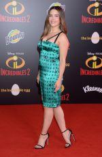SOPHIA BUSH at Incredibles 2 Premiere in Hollywood 06/05/2018