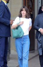 SOPHIE MARCEAU Leaves Crillon Hotel in Paris 06/11/2018