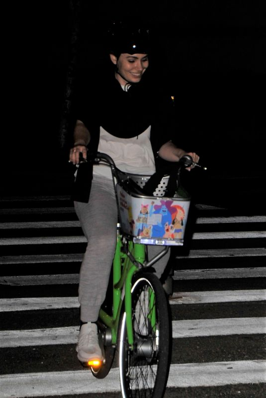 SOPHIE SIMMONS Riding Her Bike Out in Los Angeles 06/07/2018