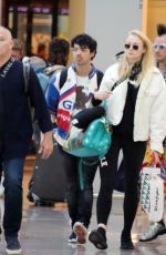 SOPHIE TURNER and Joe Jonas at Airport in Barcelona 06/19/2018