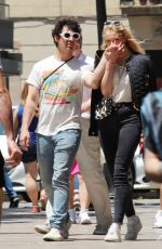 SOPHIE TURNER and Joe Jonas Out in Barcelona 06/19/2018