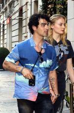 SOPHIE TURNER and Joe Jonas Out in Paris 06/27/2018