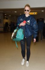 SOPHIE TURNER Arrives at Aberdeen Airport for Kit Harington and Rose Leslie Wedding 06/22/2018