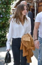 STALLA BANDERAS Out for Lunch with Her Father Antonio in Beverly Hills 06/06/2018