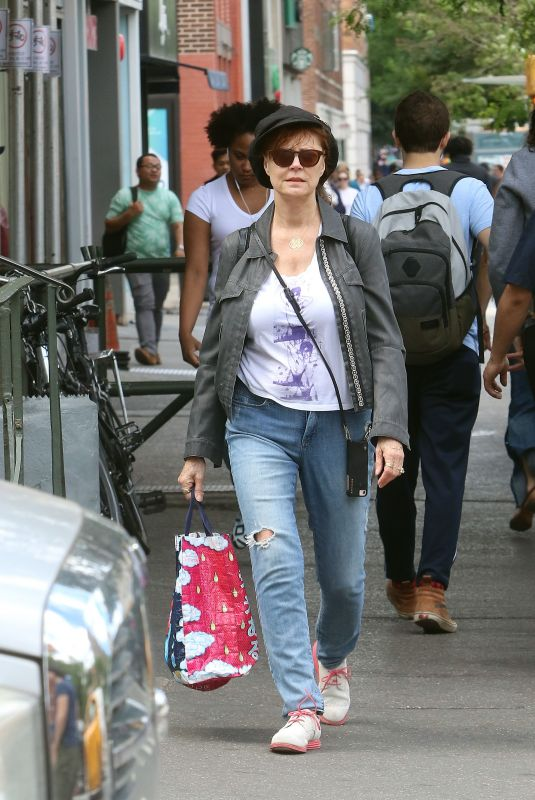 SUSAN SARANDON Out and About in New York 06/15/2018