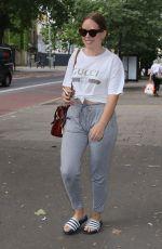 TANYA BURR Arrives at Southwark Playhouse in London 05/31/2018