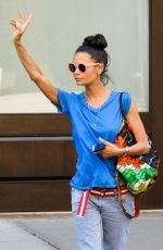THANDIE NEWTON Hailing a Cab in New York 06/14/2018