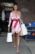 THANDIE NEWTON Leaves Late Show with Stephen Colbert in New York 06/13/2018