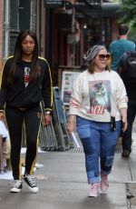 TIFFANY HADISH, MELISSA MCCARTHY and ELISABETH MOSS on the Set of The Kitchen in New York 06/13/2018