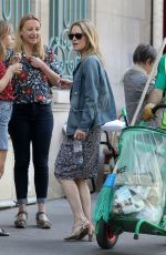 VANESSA PARADIS Out and About in Paris 06/25/2018