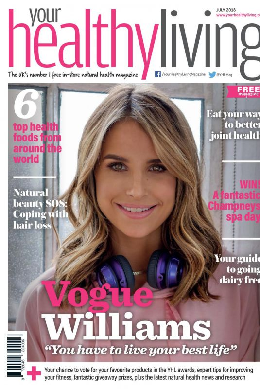 VOGUE WILLIAMS in Your Healthy Living Magazine, July 2018