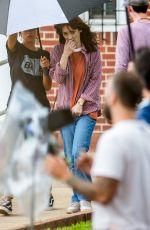 WINONA RYDER on the Set of Stranger Things in Atlanta 06/11/2018