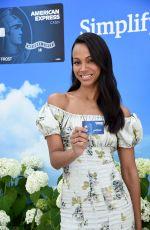 ZOE SALDANA American Express Cash Magnet Card Launch in New York 06/14/2018