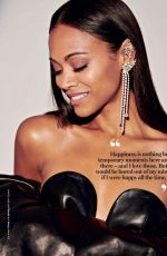 ZOE SALDANA in Glamour Magazine, South Africa July 2018