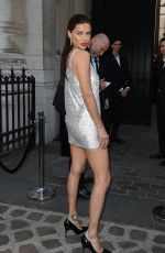 ADRIANA LIMA Arrives at Vogue Dinner Party in Paris 07/03/2018