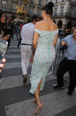 ADRIANA LIMA Leaves Miu Miu Fashion Show in Paris 06/30/2018