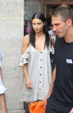 ADRIANA LIMA Out and About in Paris 07/22/2018