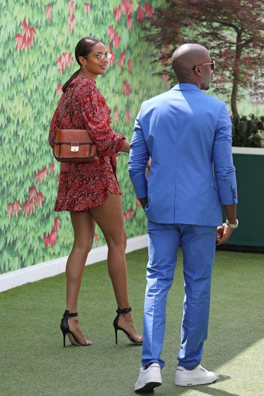 ALESHA DIXON at 2018 Wimbledon Tennis Tournament Final in London 07/15/2018