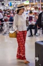ALESSANDRA AMBROSIO Arrives at Tegel Airport in Berlin 07/01/2018
