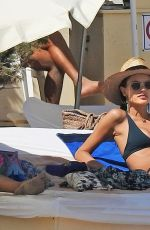 ALESSANDRA AMBROSIO in Bikini at a Beach in Ibiza 06/07/2018