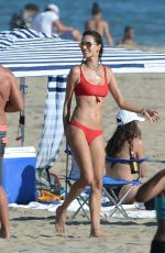 ALESSANDRA AMBROSIO in Bikini at a Beach in Los Angeles 07/22/2018