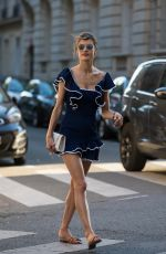 ALESSANDRA AMBROSIO Out and About in Paris 07/04/2018