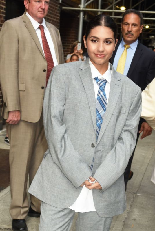 ALESSIA CARA in Oversized Suit at Late Show with Stephen Colbert in New York 07/11/2018