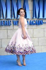 ALEXA DAVIES at Mamma Mia Here We Go Again Premiere in London 07/16/2018