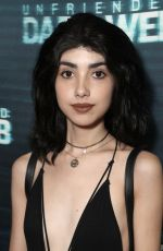 ALEXA MANSOUR at Unfriended Dark Web Premiere in Los Angeles 04/17/2018