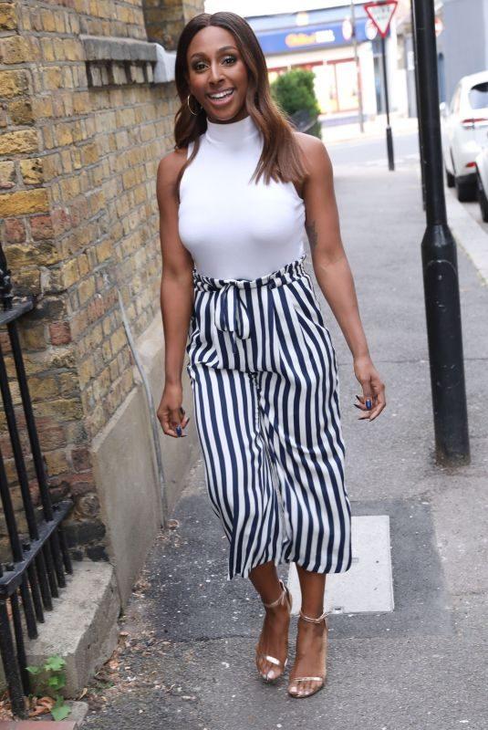 ALEXANDRA BURKE Leaves BBC Studio in West London 07/19/2018