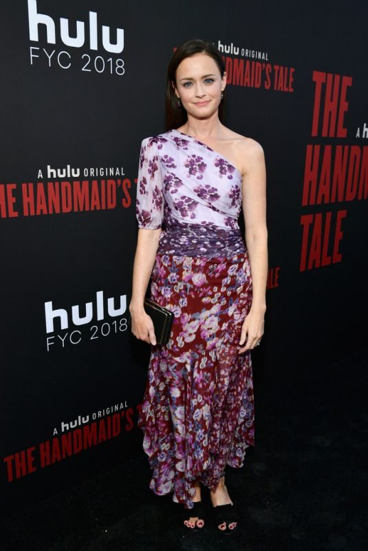 ALEXIS BLEDEL at The Handmaid's Tale Hulu Finale in Los Angeles 07/09/2018