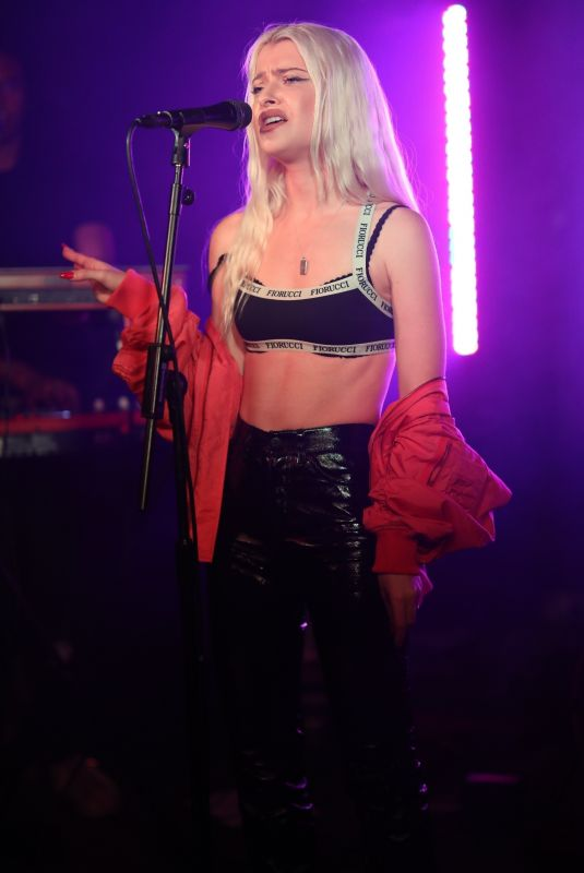 ALICE CHATER Performs at a Concert in London 07/19/2018