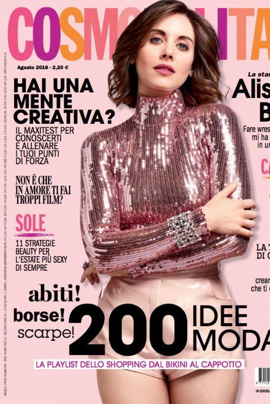 ALISON BRIE in Cosmopolitan Magazine, Italy August 2018