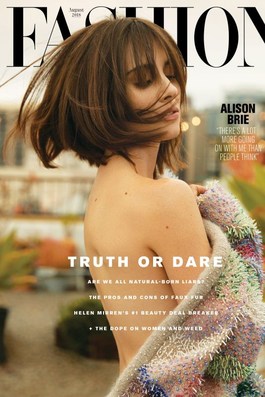 ALISON BRIE in Fashion Canada Magazine, August 2018