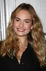 AMANDA SEYFRED andLILY JAMES at AOL Build in New York 07/19/2018