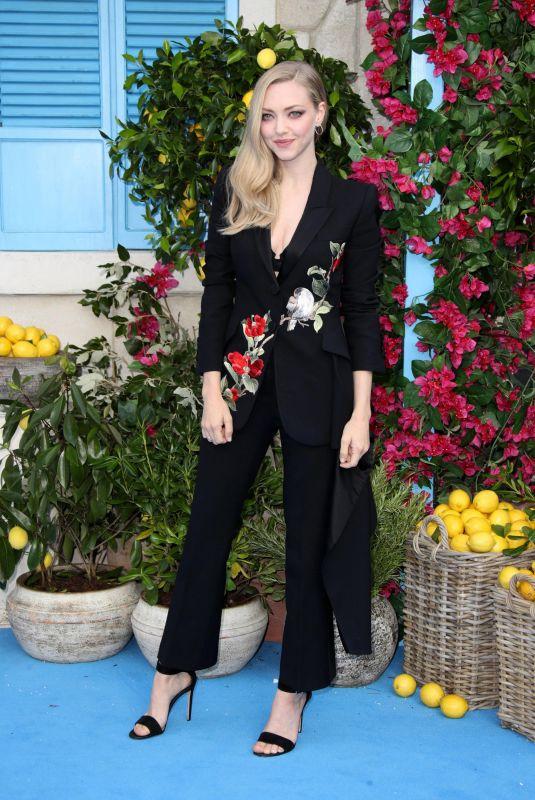 AMANDA SEYFRIED at Mamma Mia Here We Go Again Premiere in London 07/16/2018