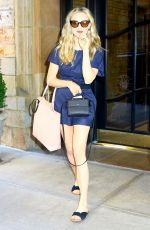 AMANDA SEYFRIED Leaves Her Hotel in New York 07/19/2018