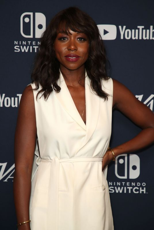 AMANDA WARREN at Variety Studios at Comic-con 2018 in San Diego 07/20/2018