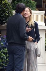 AMBER HEARD and Vito Schnabel at Ritz Hotel in London 07/10/2018