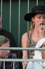 AMBER HEARD and Vito Schnabel at Wimbledon Tennis Championships in London 07/07/2018