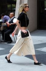 AMBER HEARD Arrives at a Meeting in Century City 07/26/2018