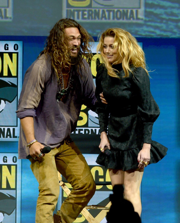 Amber Heard And Jason Momoa Photos Photos: AMBER HEARD At Aquaman Theatrical Panel At Comic-con In