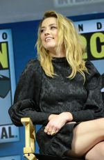 AMBER HEARD at Aquaman Theatrical Panel at Comic-con in San Diego 07/20/2018