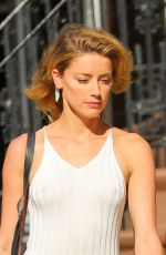 AMBER HEARD Out and About in New York 06/30/2018