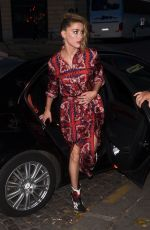 AMBER HEARD Out for Dinner in Paris 07/04/2018