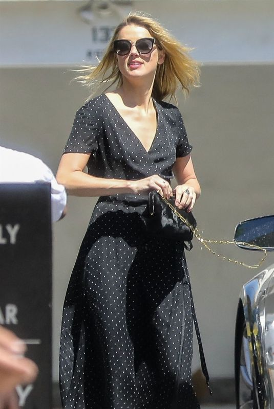 AMBER HEARD Out for Lunch at Honor Bar in Beverly Hills 07/24/2018