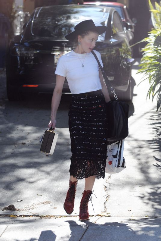 AMBER HEARD Out in Hollywood 07/21/2018